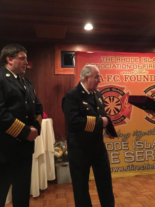 Chief Stanley and Chief Frink- Current president of the RIAFC and Chief of the Dunns Corners Fire Distirct